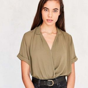 URBAN OUTFITTERS Silence + Noise Surplice Wrap Top